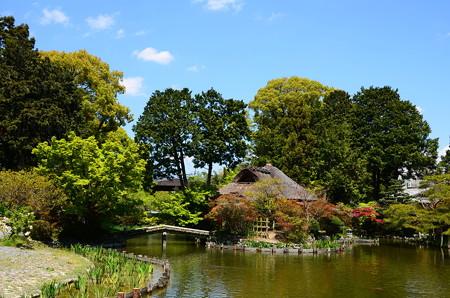 咲耶池と芦の苫屋