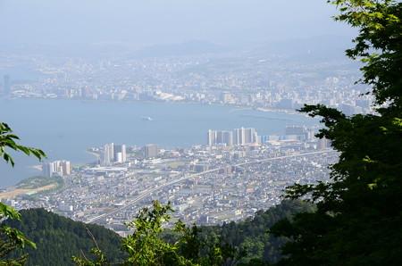坂本ケーブル山頂駅から見る琵琶湖