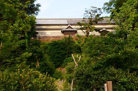 玉泉庵側から見る金沢城