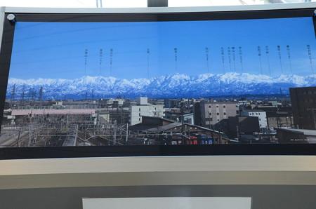 高岡駅から見える立山連峰