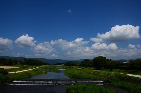 夏雲の賀茂川