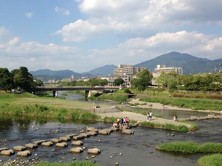 賀茂大橋から見る比叡山
