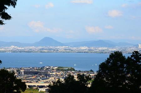 日吉東照宮から見る近江富士
