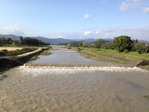台風一過の賀茂川