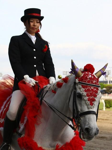 写真: 川崎競馬の誘導馬05月開催 カーネーションVer-120514-04-large