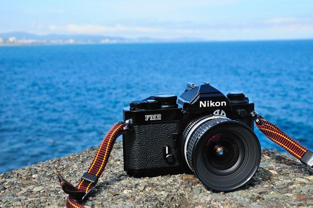 フィルムカメラと海
