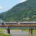 写真: 酒匂川を渡るロマンスカー