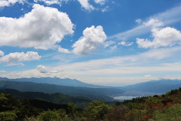 八ヶ岳連峰・南アルプス連峰・諏訪湖