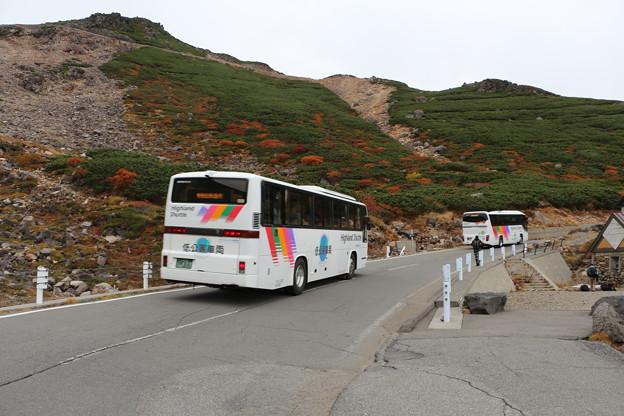 写真: 乗鞍畳平へのバス