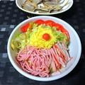 Photos: 冷やし中華と豆鯵の干物