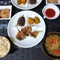 Photos: 鯵の干物の素揚げ定食