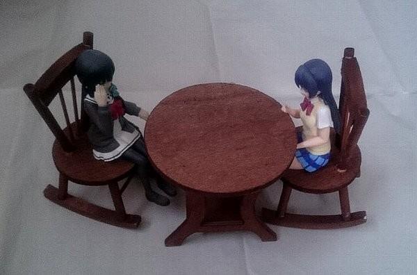 ウッドテーブル(オーバル)・ウッドロッキングチェア