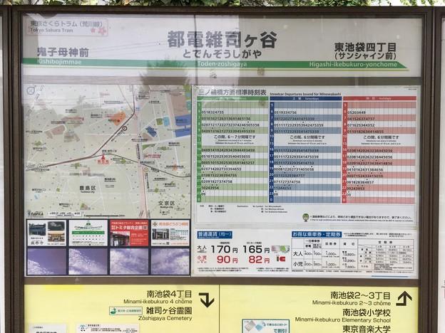 都電雑司ヶ谷停留場 Toden-zoshigaya Sta.