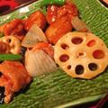 写真: 鶏と野菜の黒酢あん。