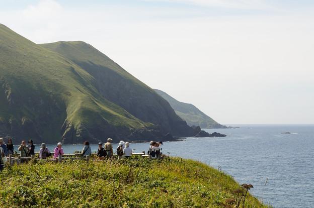 礼文島の海食崖@2012北海道旅行2日目