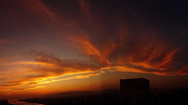 夕景 スカイビル屋上より