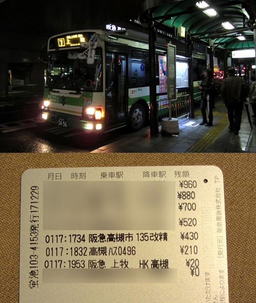 高槻市営バス・スルッとKANSAI利用記録