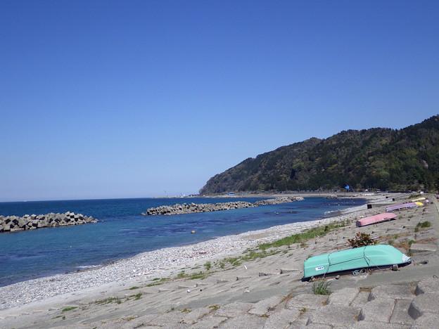 泊の海岸線