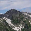 目を凝らしてみて見ると、頂上に人がいっぱい、剱岳