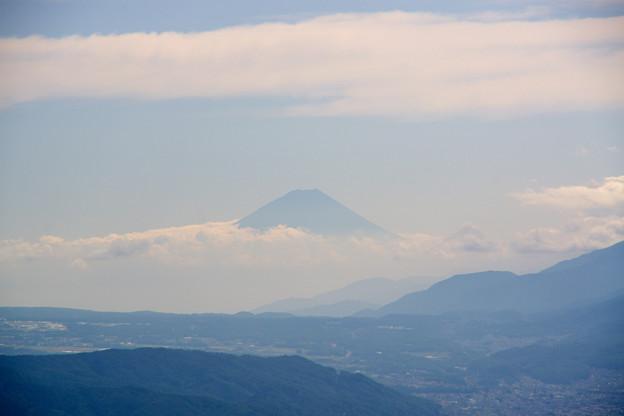 富士山にズームイン、高ボッチにて