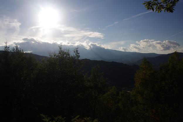 写真: 御嶽山、開田の展望台