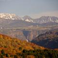 芦峅寺の山より称名滝見える