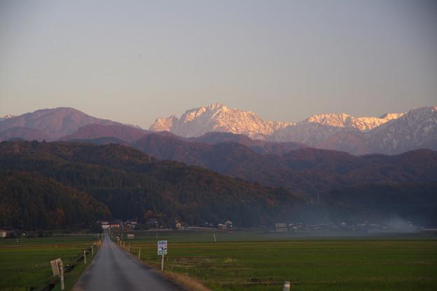 晩秋の剱岳