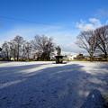 つかの間の雪景色