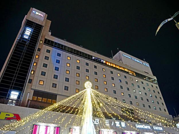 三ノ宮 駅ビル クリスマスイルミネーション