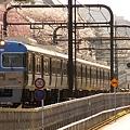 桜満開の駒場駅跡