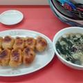 焼き餃子とわかめスープ@萬金