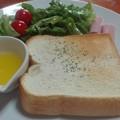Photos: トースト ハムと草とマーガリン付き@腰越珈琲