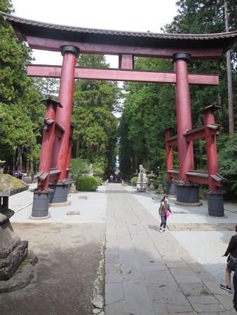 大きな鳥居@冨士浅間神社