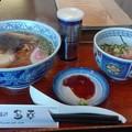 志太系ラーメンとネギトロ丼@多幸 焼津市