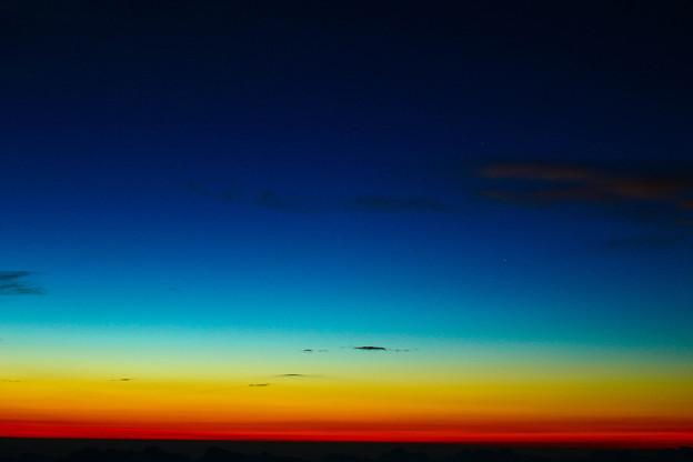 夜明け前の金星