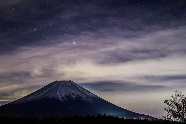 初冬の富士
