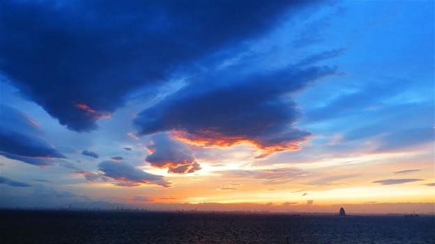 写真: 海ほたるから サンセット