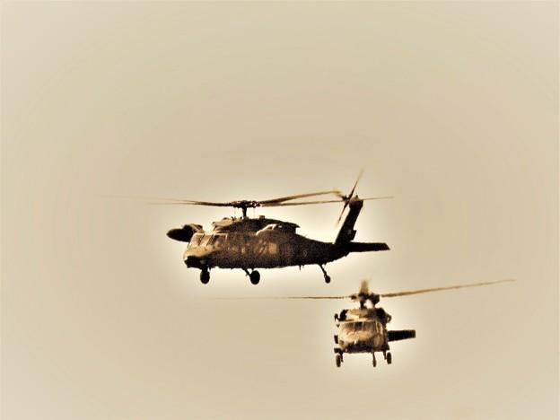 ヘリコプター 昔々を思い出す