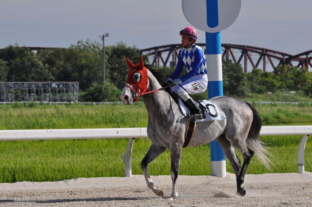 写真: 返し馬2