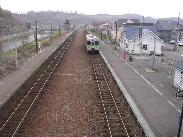 写真: 蘭島駅2