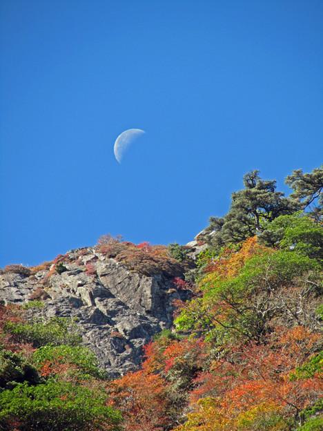 石鎚山の月