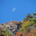 写真: 石鎚山の月