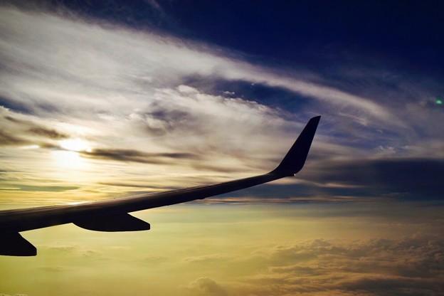 写真: 上空1万メートルの絶景
