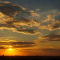 夕日「黄金の雲」