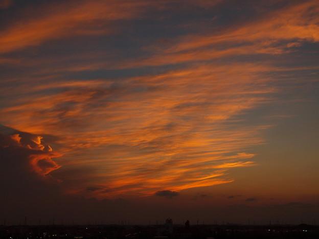 写真: 夕焼け「簾模様」