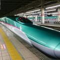 大宮駅にて、E5は、ノーズがなが~いですね。