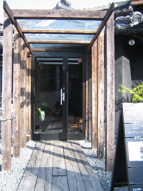 cafeの入り口