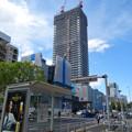 写真: 建設進む御園座の高層マンション(2017年4月18日) - 2