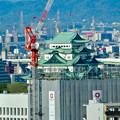 写真: 全面開業翌日(4月18日)のJRゲートタワー - 31:ゲートタワーから見た名古屋城天守閣