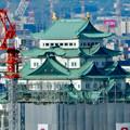 写真: 全面開業翌日(4月18日)のJRゲートタワー - 32:ゲートタワーから見た名古屋城天守閣